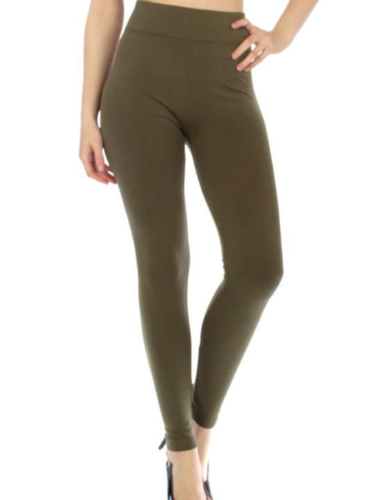 Solid Olive Seamless Leggings